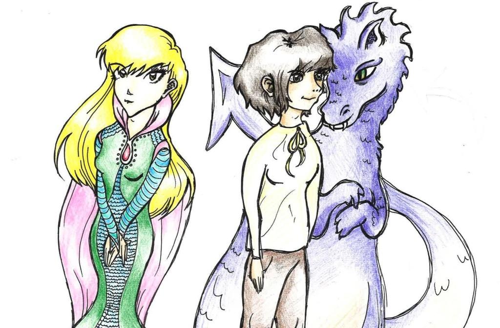 princess, girl and the dragon