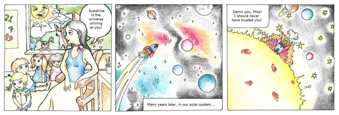 Solar system comic